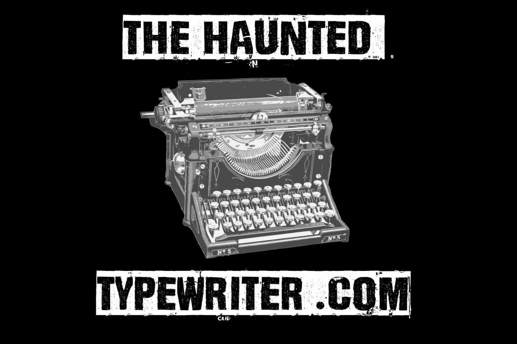 the haunted typewriter logo with typewriter