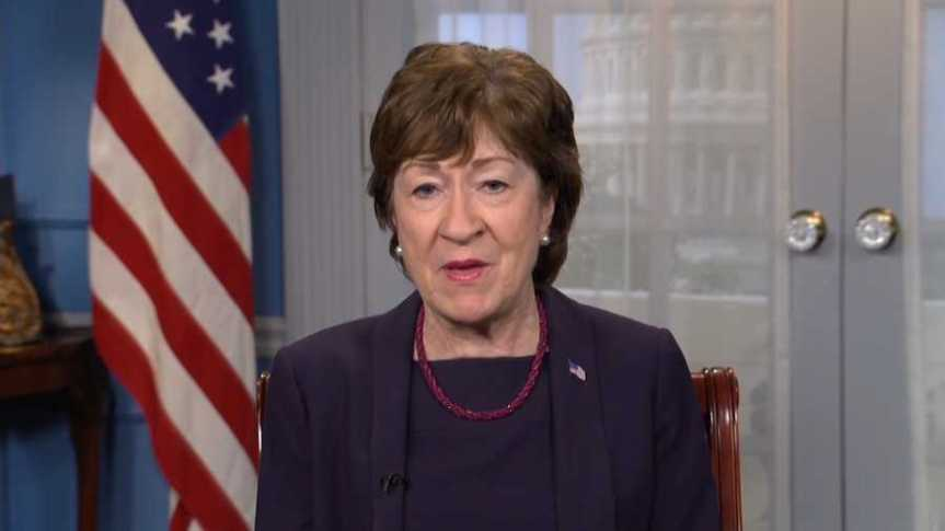 Susan Collins, in Lead of 10 Republicans Seeking to Court Biden on Pandemic Relief Compromise, Said She Was Pleased With the Meeting, Able to Look Past Biden's Repeated Slurs Directed HerWay